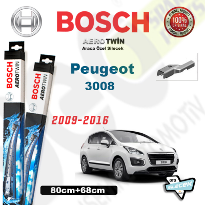 Peugeot 3008 Bosch Aerotwin Silecek Takımı 2009->