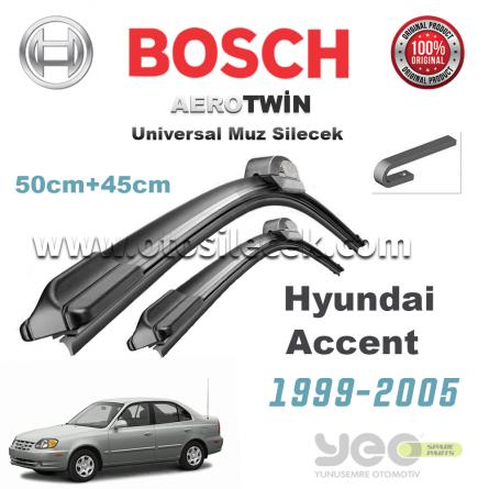 Hyundai Accent Bosch Universal Muz Silecek Takımı 1999-2005