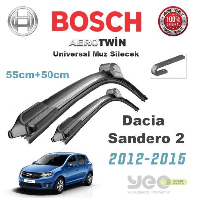 Dacia Sandero 2 Bosch Universal Silecek Takımı 2012->