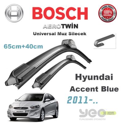 Hyundai Accent Blue Bosch Aerotwin Muz Silecek Takımı