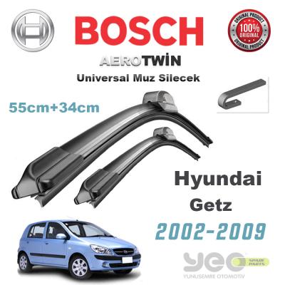 Hyundai Getz Bosch Aerotwin Muz Silecek Takımı 2002-2009