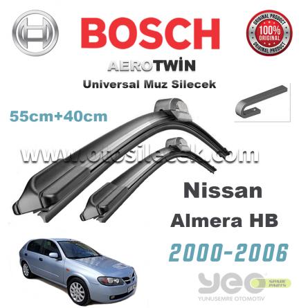 Nissan Almera Bosch Aerotwin Muz Silecek Takımı 2000-2006