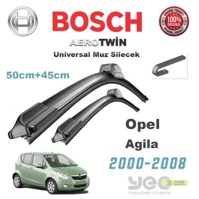 Opel Agila Bosch Aerotwin Muz Silecek Takımı 2000-2008