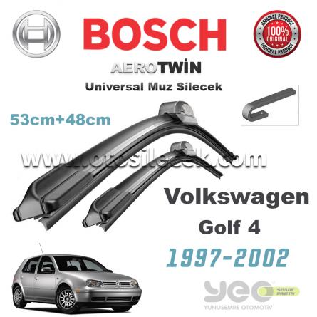 VW Golf 4 Bosch Aerotwin Muz Silecek Takımı 1997-2002