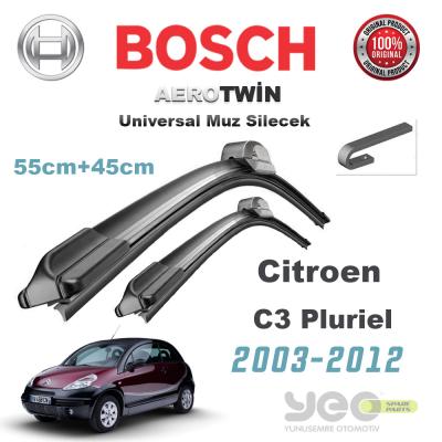 Citroen C3 Pluriel Universal Bosch Silecek Takımı 2003-2012