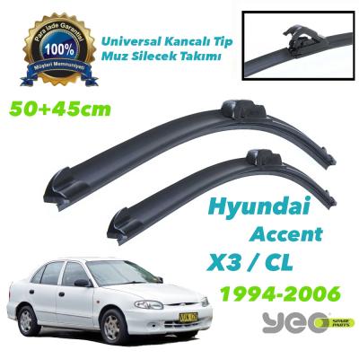 Hyundai Accent Blue YEO Aeroflex Muz Silecek Takımı