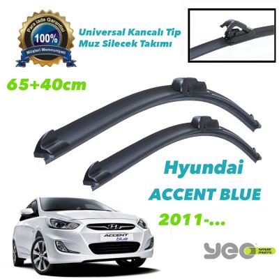 Hyundai Accent Blue 2011-.. YEO Aeroflex Muz Silecek Takımı