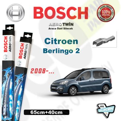 Citroen Berlingo 2 Bosch Aerotwin Ön Silecek Takımı 2008->