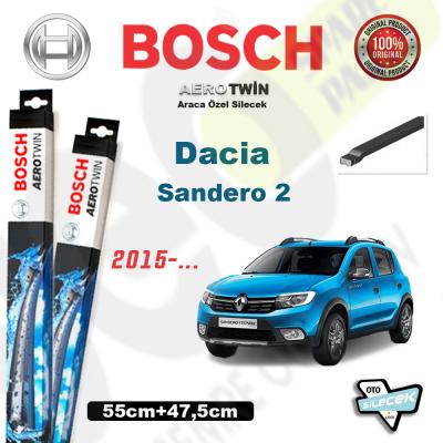 Dacia Sandero 2 Bosch Aerotwin Silecek Takımı 2015->