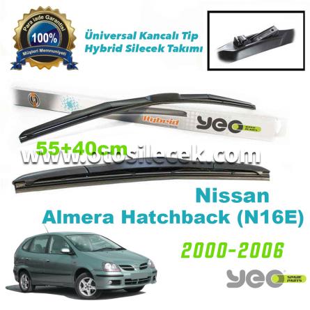 Nissan Almera Hatchback [N16E] Hybrid Silecek Takımı YEO 2000-2006