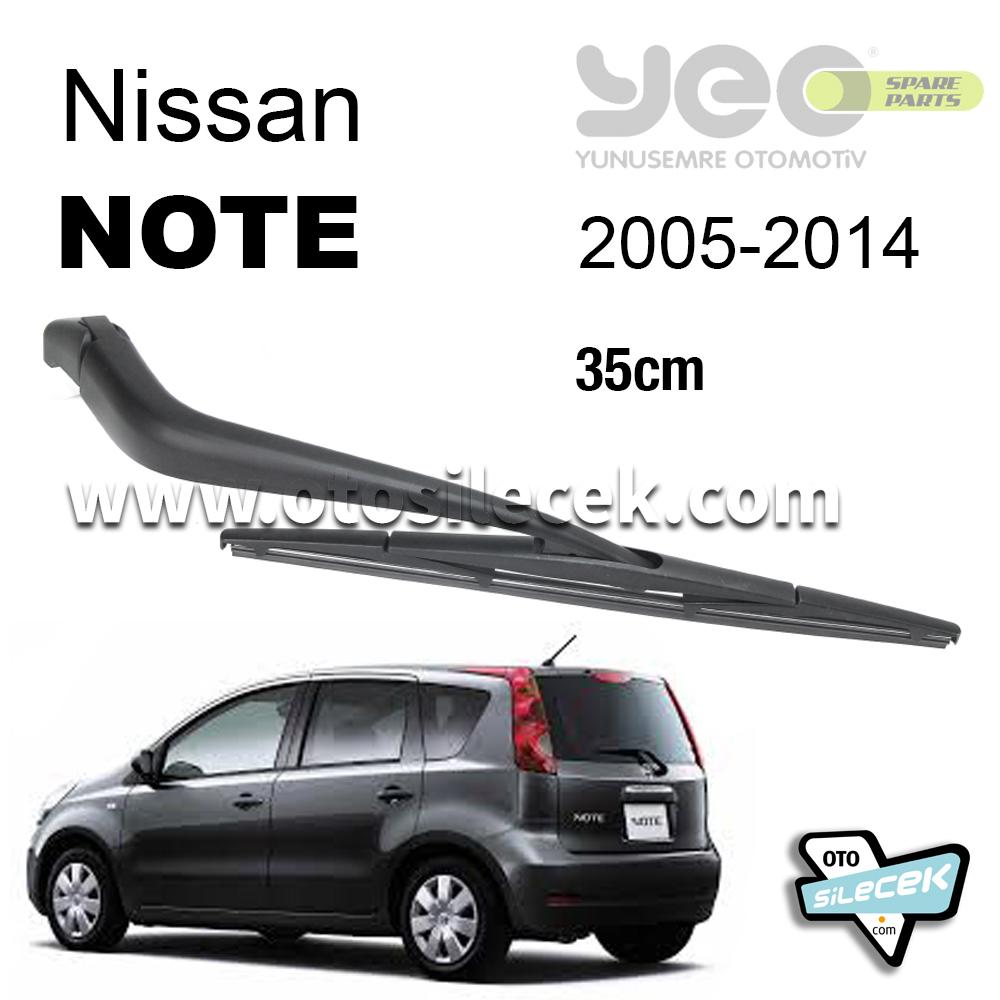 Nissan Note Arka Silecek Kolu Set 2005 2014 Yeo Wiperear 35cm Otosilecek Com