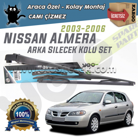 Nissan Almera HB Arka Silecek Kolu Set 2003-2006
