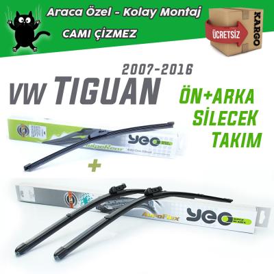 VW Tiguan Ön & Arka Silecek Takımı 2006-2016 YEO Aeroflex
