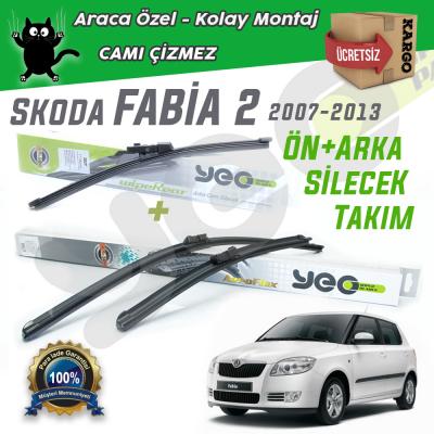 Skoda Fabia 2 Ön & Arka Silecek Takımı YEO 2007-2013