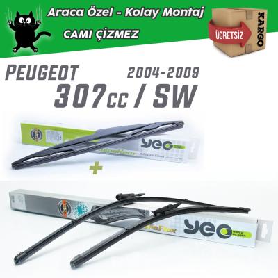 Peugeot 307 CC / SW Ön & Arka Silecek Takımı YEO 2004-2009