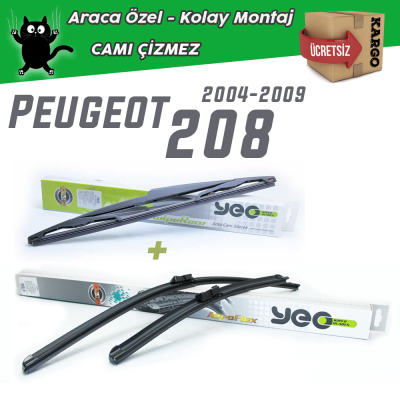 Peugeot 208 Ön & Arka Silecek Takımı YEO 2012-...